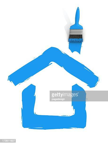 house paint - house icon stock pictures, royalty-free photos & images