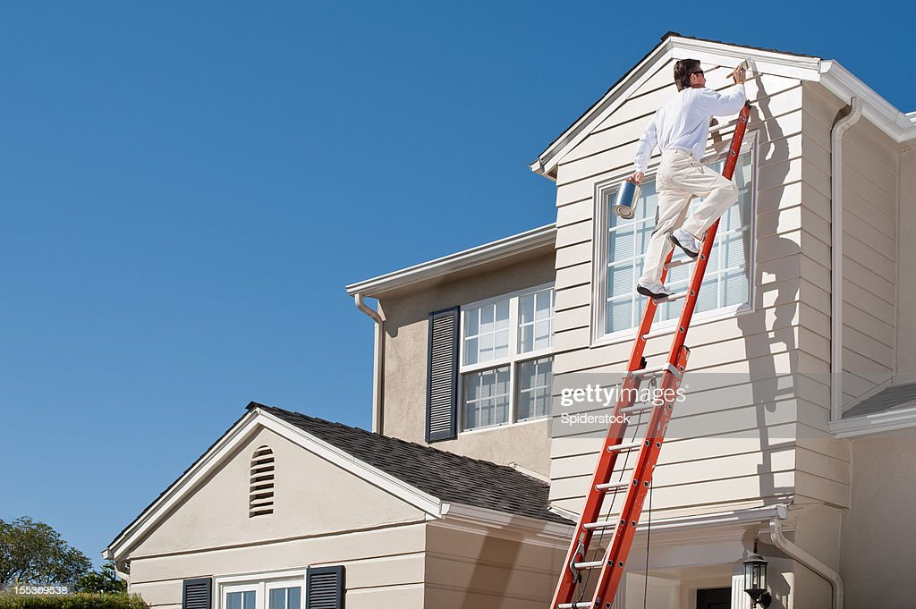 ... House Painter With Paint Brush ...
