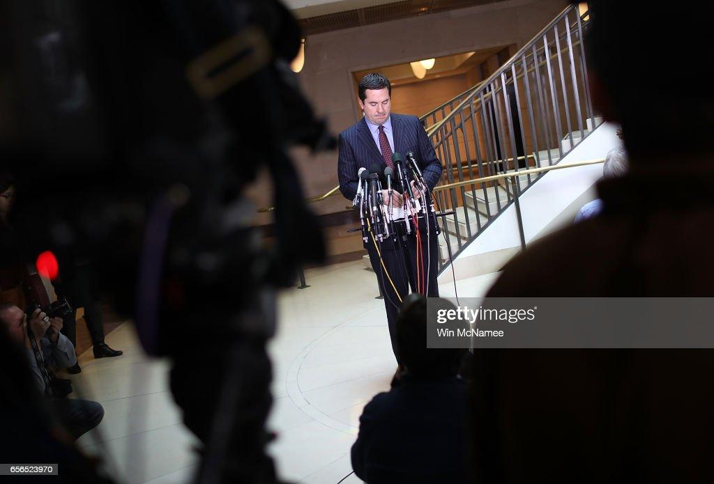 Rep. Devin Nunes Briefs Press On House Intelligence Cmte Russia Investigation