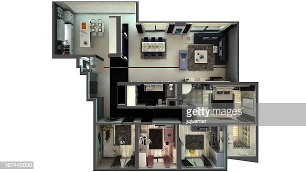 house - cross section stock pictures, royalty-free photos & images