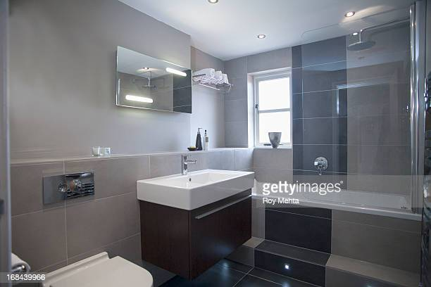 house - bathroom stock photos and pictures
