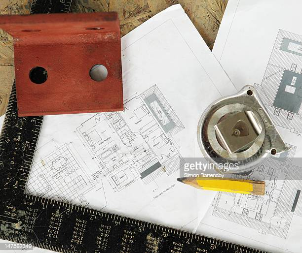 House plans with tape measure