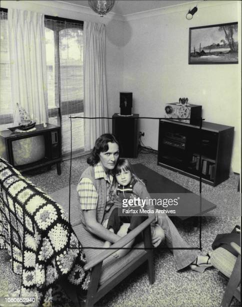 House Prices Fall in Blacktown.Mrs. Lael Koupiansky and her daughter Nicole 3years at the Guerin St. Blacktown home they will lose. March 30, 1982. .