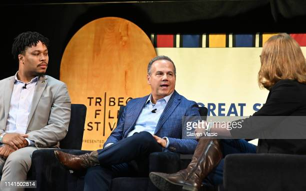 House Rep Malcolm Kenyatta House Rep David Cicilline and moderator Allison VanKuiken attend Out in Office panel at Tribeca Celebrates Pride Day at...