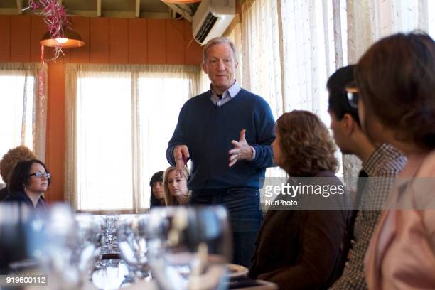 US House Representative Dwight Evans welcomes Philanthropist activist and Need to Impeach Founder Tom Steyer to sit down with group of community...