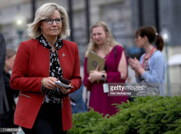 House Republican Conference chair Liz Cheney arrives for an event at the US Capitol May 9 2019 in Washington DC Cheney and White House counselor...