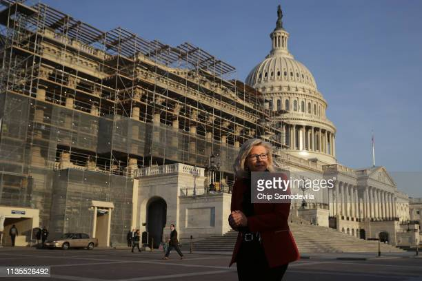 S House Republican Conference Chair Liz Cheney prepares for a news conference with fellow Republicans and antiabortion activists outside the US...
