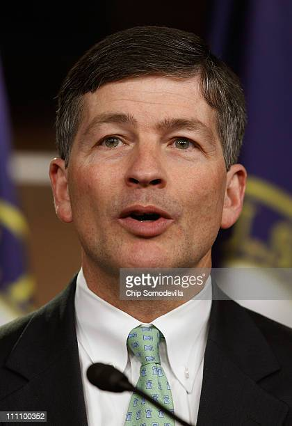 House Republican Conference Chairman Rep Jeb Hensarling speaks during a news conference to discuss a GOPsponsored Fannie Mae and Freddie Mac reform...