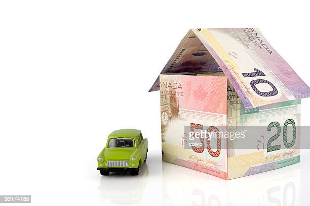 house rich - canadian currency stock pictures, royalty-free photos & images