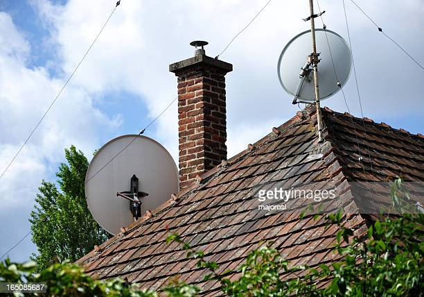 house roof and antennas
