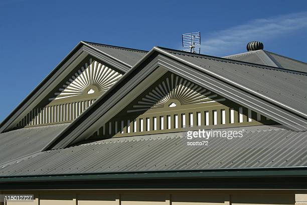 house roof - corrugated iron stock photos and pictures