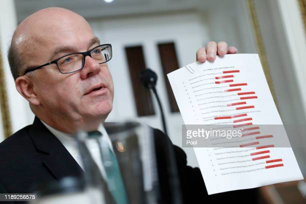 House Rules Committee chairman Rep. Jim McGovern speaks during a House Rules Committee hearing on the impeachment against President Donald Trump on...