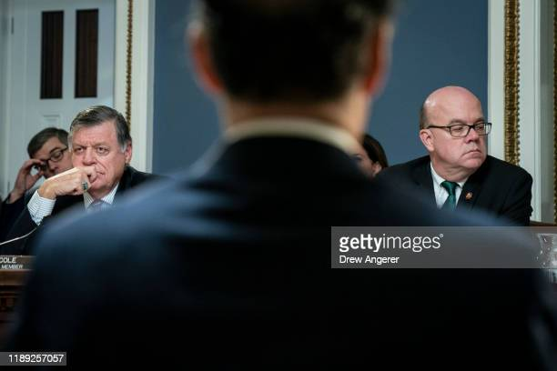House Rules Committee ranking member Rep Tom Cole and committee chairman Rep Jim McGovern chair a House Rules Committee hearing concerning the...