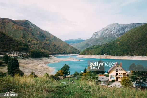 House seen near the Pluzine Dam in Montenegro