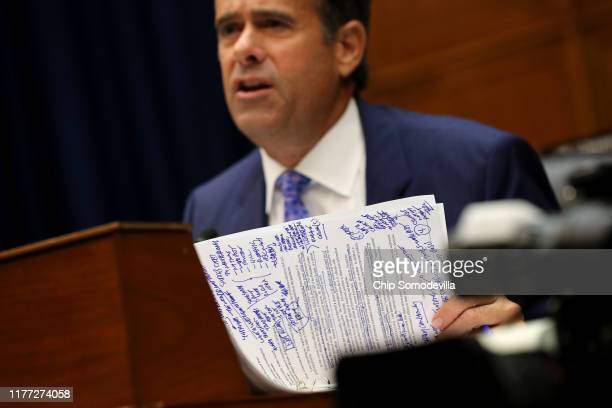 House Select Committee on Intelligence member Rep John Ratcliffe questions Acting Director of National Intelligence Joseph Maguire during a hearing...
