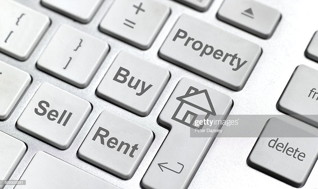 House sell buy rent keyboard : Stock Photo