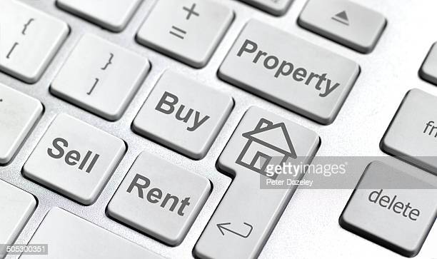 House sell buy rent keyboard