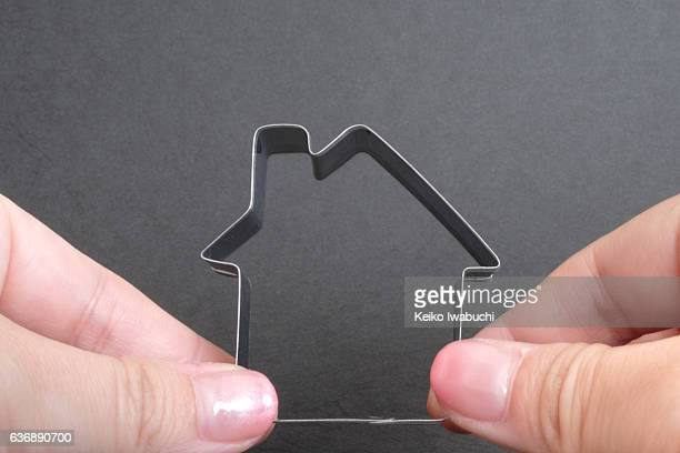 House shaped cookie cutter