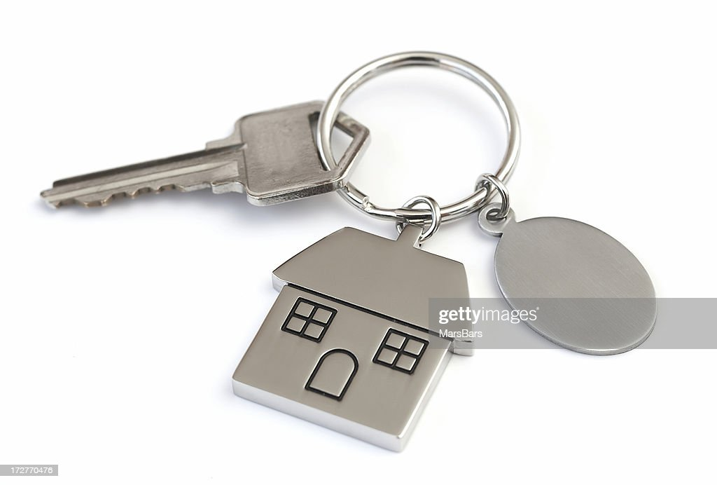 House Shaped Keychain With Blank Tag Stock Photo - Getty Images