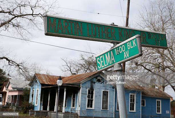 A house sits vacant on March 6 2015 in Selma Alabama 50 years after the historic civil rights march from Selma to Montgomery where marchers were...