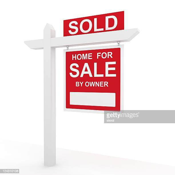 house sold sign - selling stock pictures, royalty-free photos & images