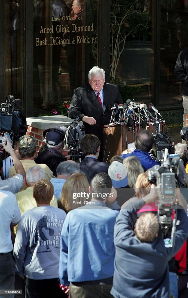Dennis Hastert Holds Second Press Conference On Foley Scandal