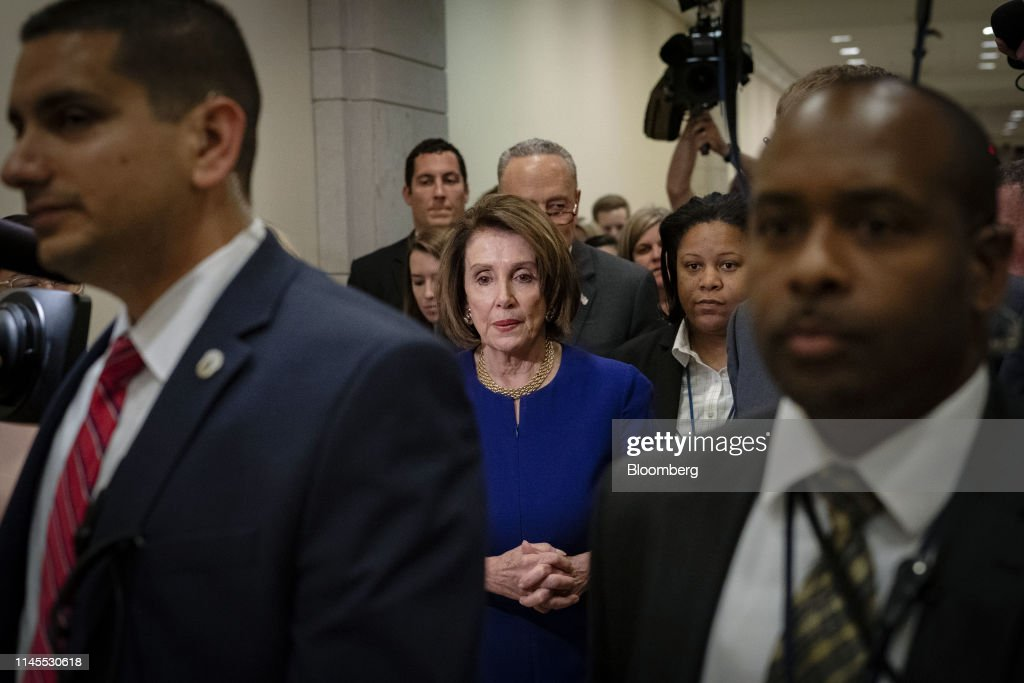 DC: House Speaker Pelosi And Senator Schumer Hold News Conference After Meeting President Trump