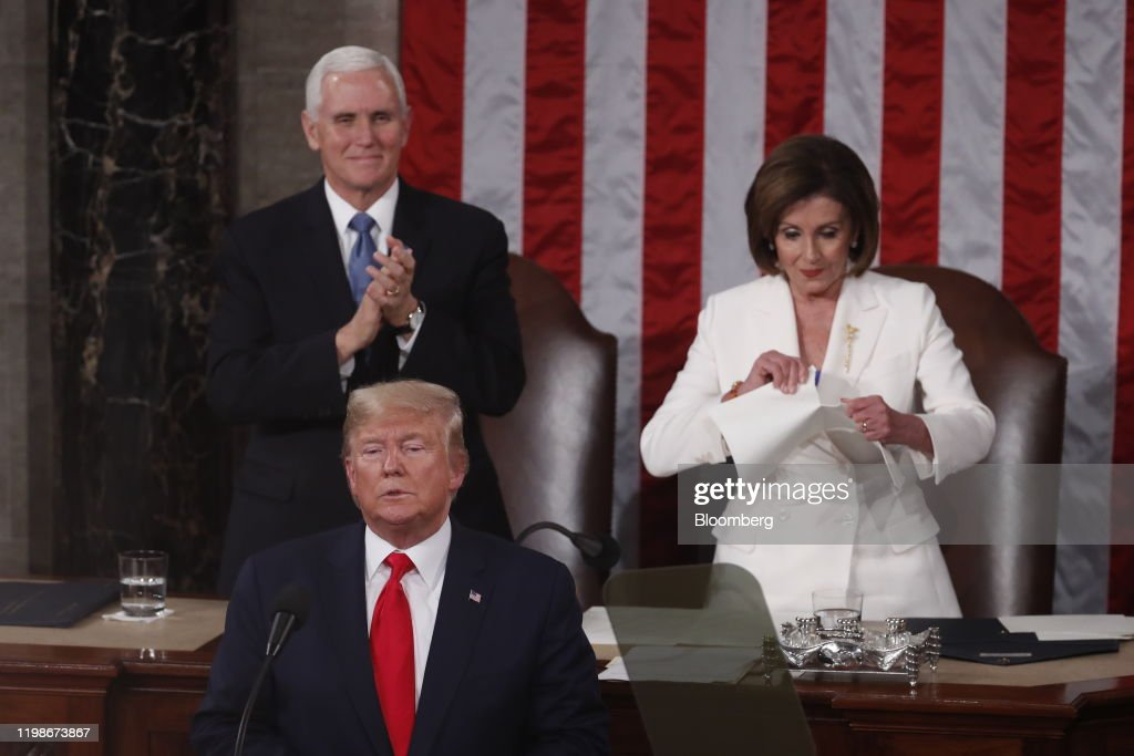 President Trump Delivers State Of The Union Address : News Photo