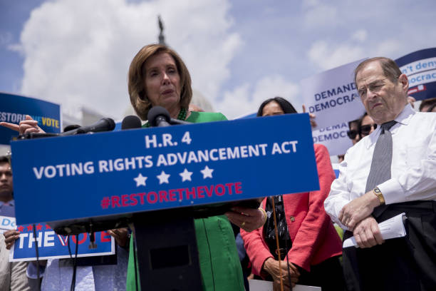 DC: House Speaker Pelosi And Democratic Representatives Hold News Conference On Voting Rights