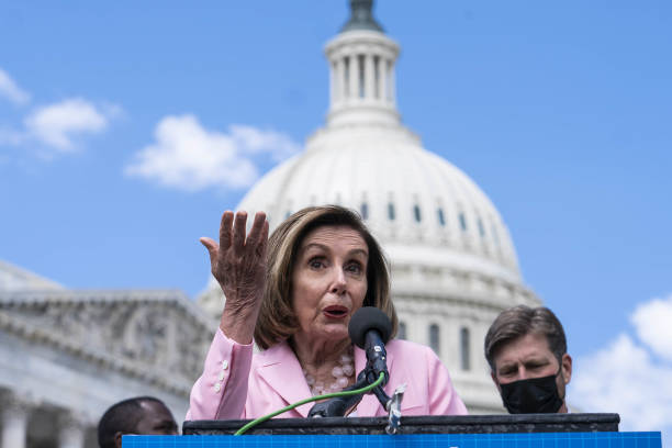 DC: House Speaker Pelosi Holds News Conference On Infrastructure Investment
