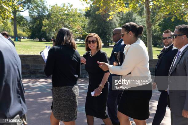 House Speaker Nancy Pelosi is seen after attends a gun violence rally outside the Capitol building on Wednesday, September 25, 2019.