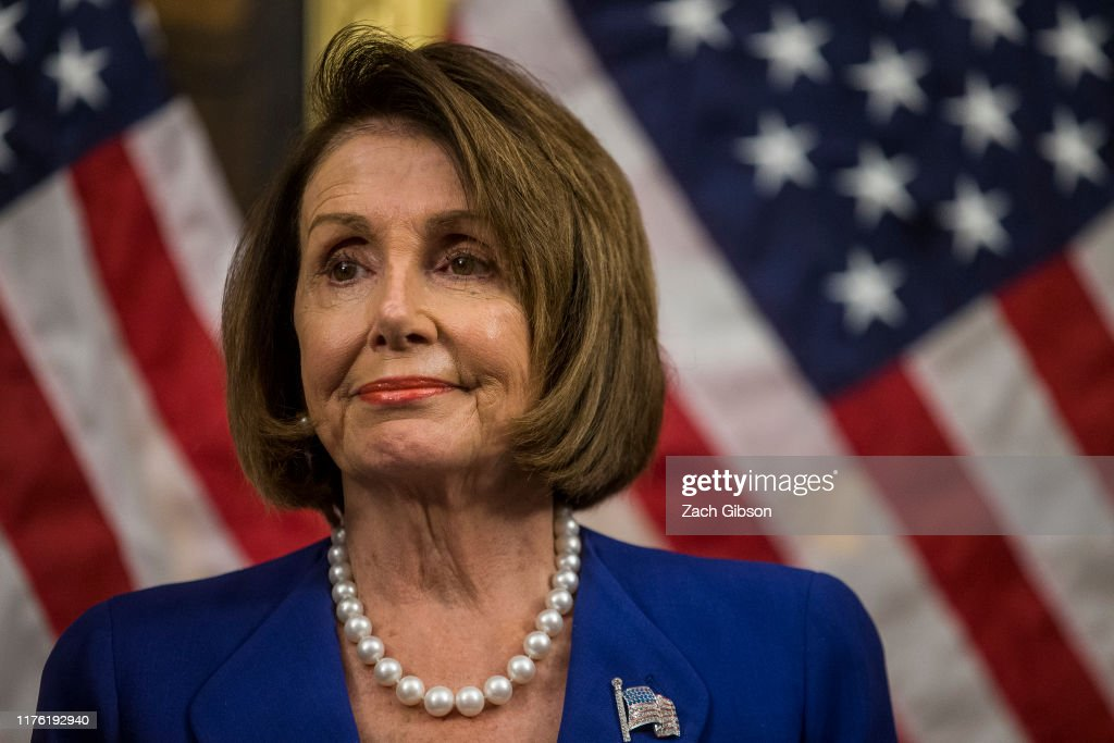 Nancy Pelosi, House Democrats Hold Press Conference On Lower Drug Costs Now Act : News Photo