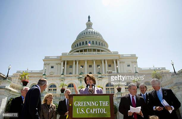 House Speaker Nancy Pelosi makes remarks at a news conference on Capitol Hill June 21 in Washington DC Pelosi and other Democratic Congressional...