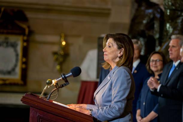 DC: Speaker Pelosi Hosts Congressional Statue Dedication Ceremony Honoring Ponca Chief Standing Bear Of Nebraska