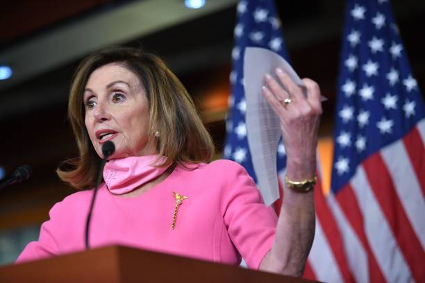 DC: Speaker Pelosi Holds Weekly Press Briefing At Capitol Building