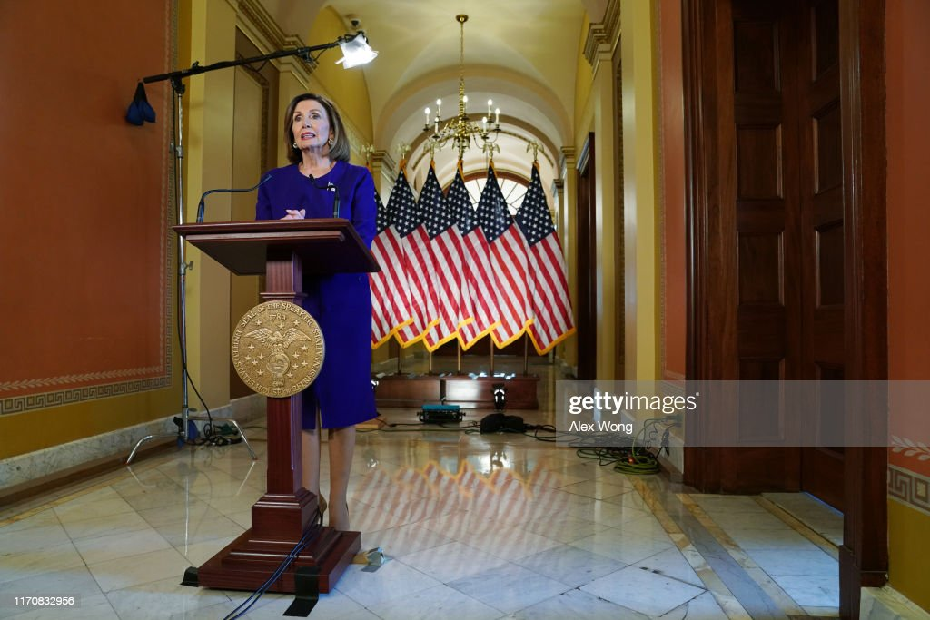 Pelosi Announces Formal Impeachment Inquiry : News Photo