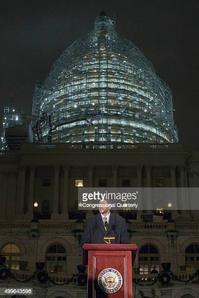 STATES DECEMBER 2 House Speaker Paul Ryan holds a moment of silence for the ongoing shooting situation in San Bernardino Calif during the annual US...