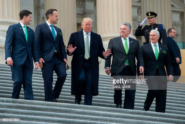 House Speaker Paul Ryan Republican of Wisconsin Ireland's Prime Minister Leo Varadkar US President Donald Trump Representative Peter King Republican...