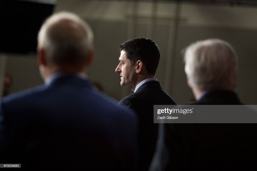 U.S. House Speaker Paul Ryan (R-WI) speaks during a news conference following a Republican Conference meeting on Capitol Hill on June 13, 2018 in Washington, DC.