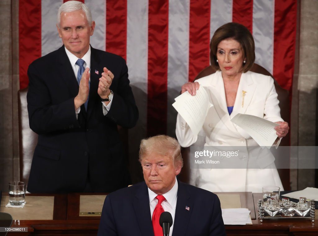 President Trump Gives State Of The Union Address : ニュース写真