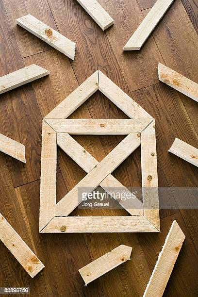 House symbol made of planks