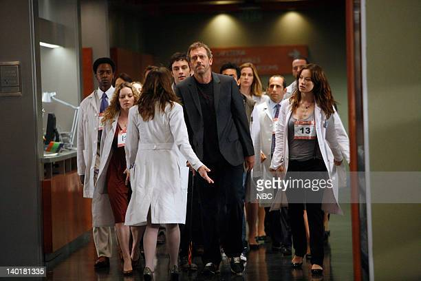 House The Right Stuff Episode 2 Pictured Edi Gathegi as Dr Jeffrey Cole Caitlin Dahl as Twin 1 15A Heather Fox as Dr Ashka Hugh Laurie as Dr Greg...