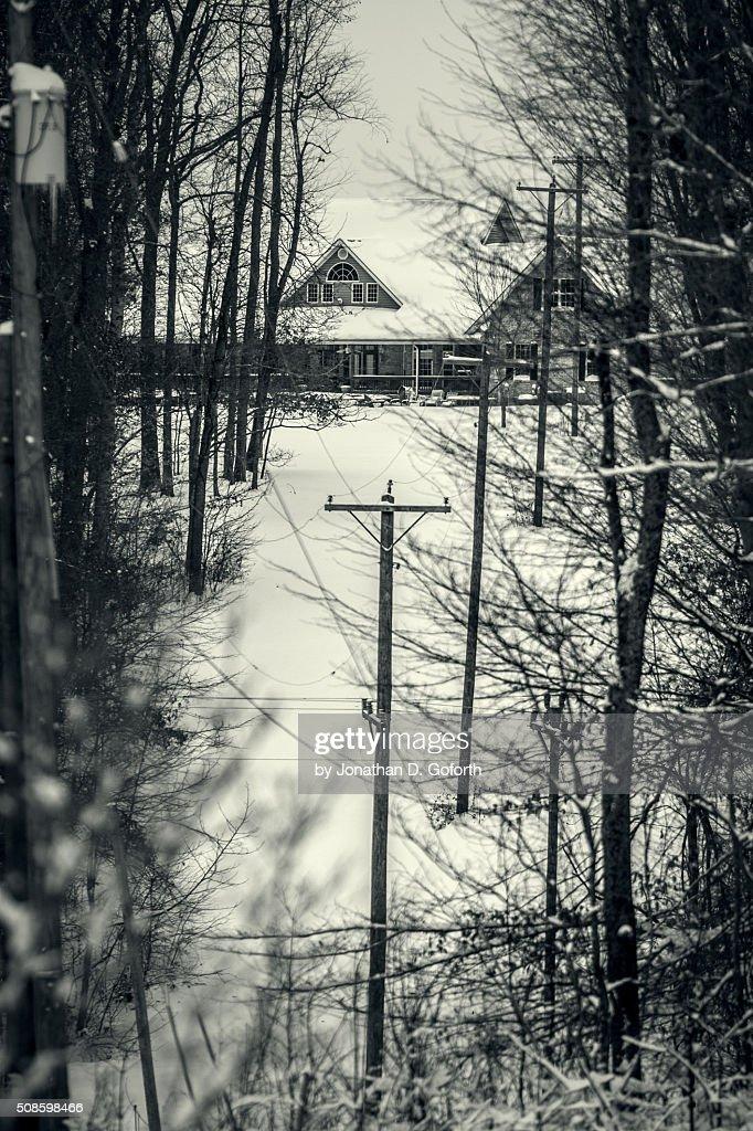 House Through The Woods : Foto de stock