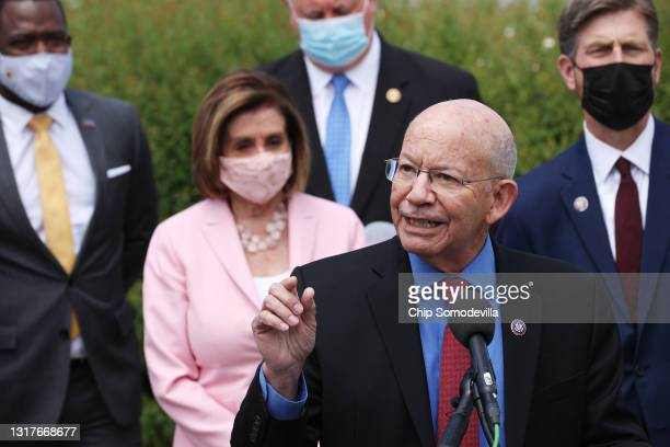 House Transportation and Infrastructure Committee Chairman Rep. Peter DeFazio speaks about infrastructure during a news conference with Speaker of...