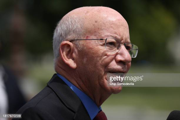House Transportation and Infrastructure Committee Chairman Rep. Peter DeFazio speaks about the need for new infrastructure legislation with fellow...