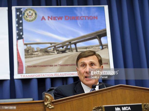 House Transportation Chairman John L Mica RFla during a news conference introducing the Republican transportation reauthorization proposal