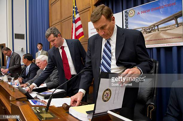 House Transportation Chairman John L Mica RFla right before a news conference introducing the Republican transportation reauthorization proposal