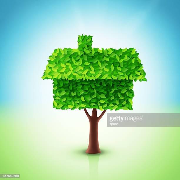 House tree illustration