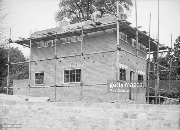House under construction circa 1935