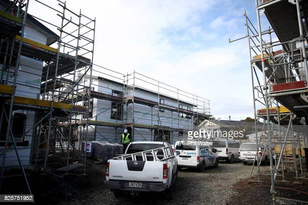 A house under construction on Browns Road designed to accomodate and transistion families in need on August 3 2017 in Auckland New Zealand The NZ...